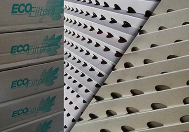 Filtr kartonowy harmonijkowy do ściany lakierniczej, stolarni, lakierni BIAŁY i SZARY - ANDREAE
