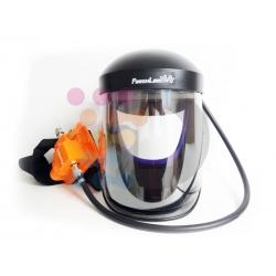 Maska ochronna z zasilaniem zewnętrznym (Wersja Economy: zasilana powietrzem maska z filtrem i paskiem)