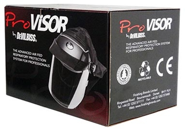 Maska lakiernicza - malarska DeVILBISS PROV 650. Maska ochronna zabezpieczająca drogi oddechowe prze
